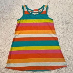 Okie Dokie Multicolor Stripe Tank Dress